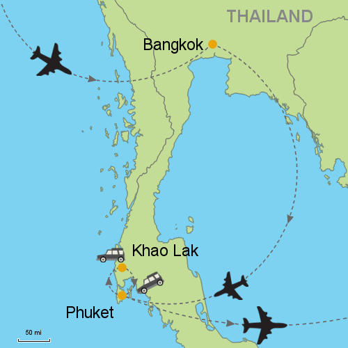 Bangkok Phuket Khao Lak Customizable Itinerary from Asia