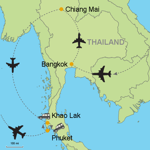 Bangkok Chiang Mai Khao Lak Customizable Itinerary from Asia
