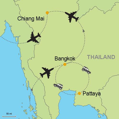 Bangkok Pattaya Chiang Mai Customizable Itinerary From Asia