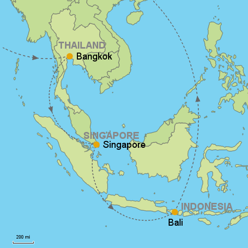 world map singapore to bali gallery
