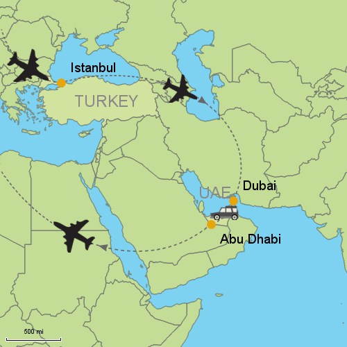 Istanbul - Dubai - Abu Dhabi Customizable Itinerary from Asia ...