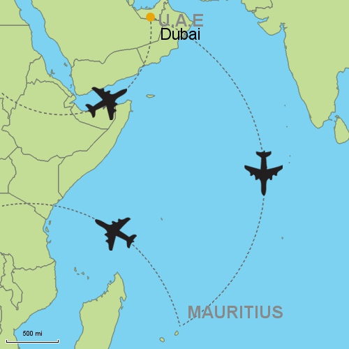 Dubai mauritius customizable itinerary from asiaipmasters map dubai mauritius gumiabroncs Image collections