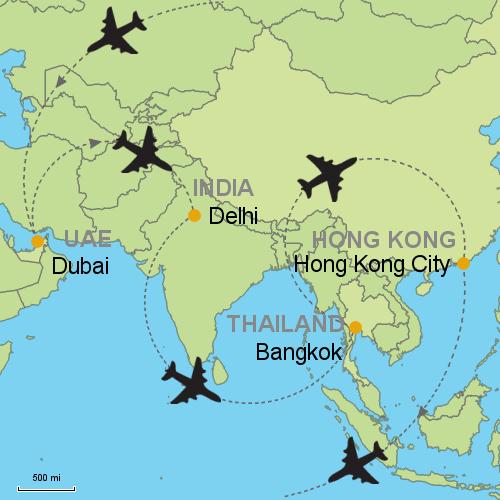 Map India To Dubai Universe