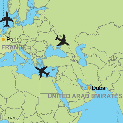 Dubai and Paris by Air Customizable Itinerary from Tripmasters.com