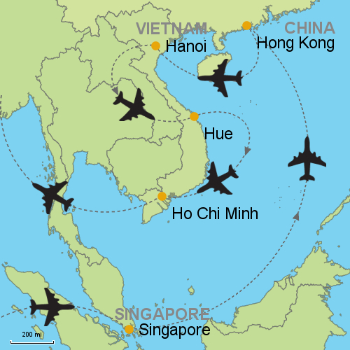 Singapore hong kong hanoi hue ho chi minh customizable map singapore hongkong hanoi hue hochiminh gumiabroncs Gallery